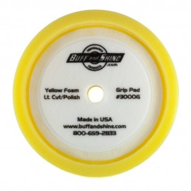 """8"""" Ultra Finishing Hex Faced Foam Grip Pad with Center Ring Backing"""